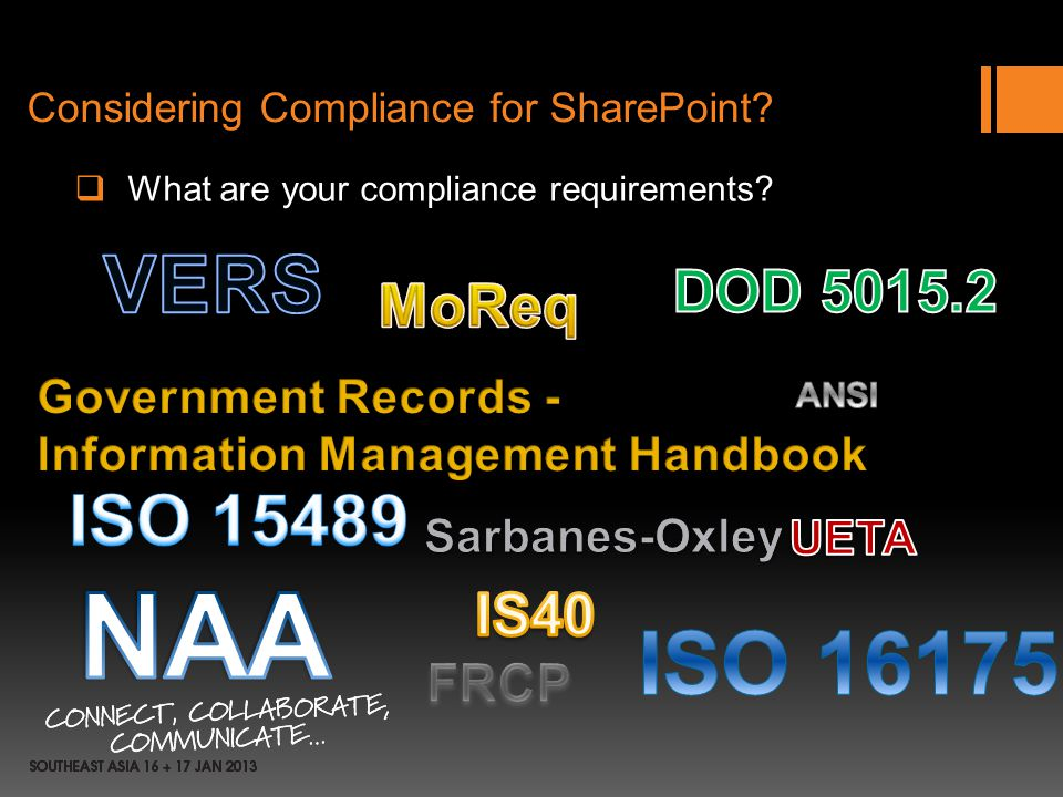 Considering Compliance for SharePoint? What are your compliance requirements?