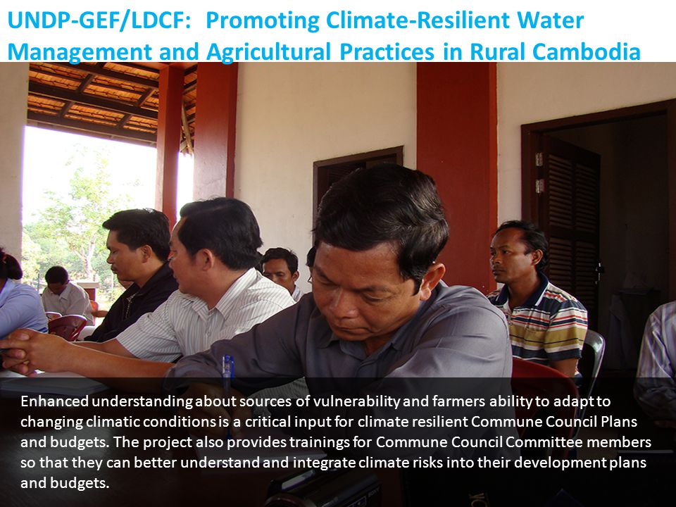 Enhanced understanding about sources of vulnerability and farmers ability to adapt to changing climatic conditions is a critical input for climate res