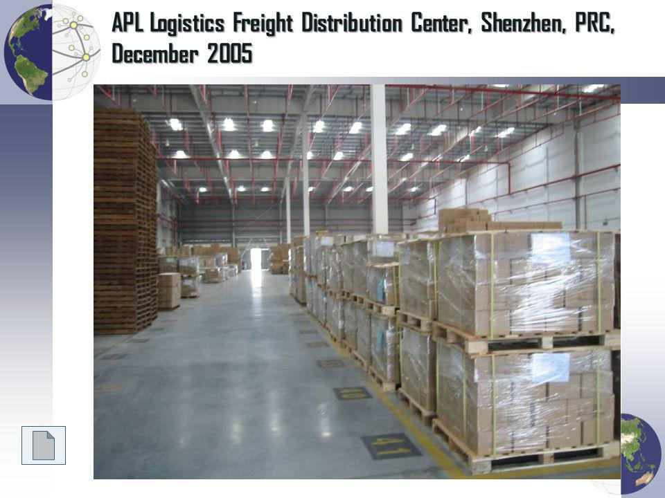 APL Logistics Freight Distribution Center, Shenzhen, PRC, December 2005