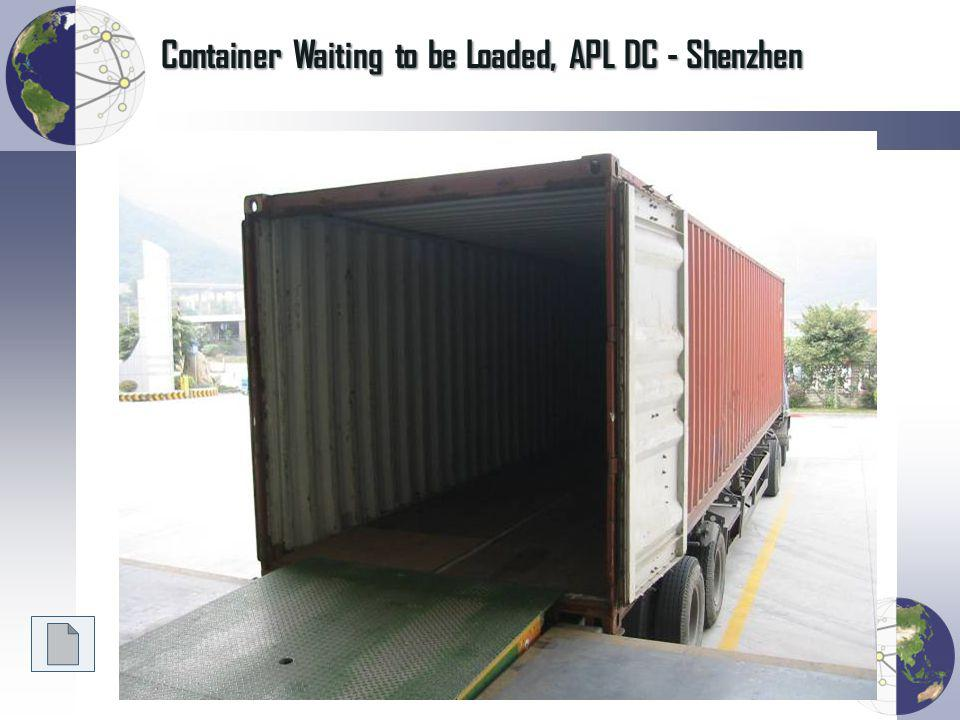 Container Waiting to be Loaded, APL DC - Shenzhen