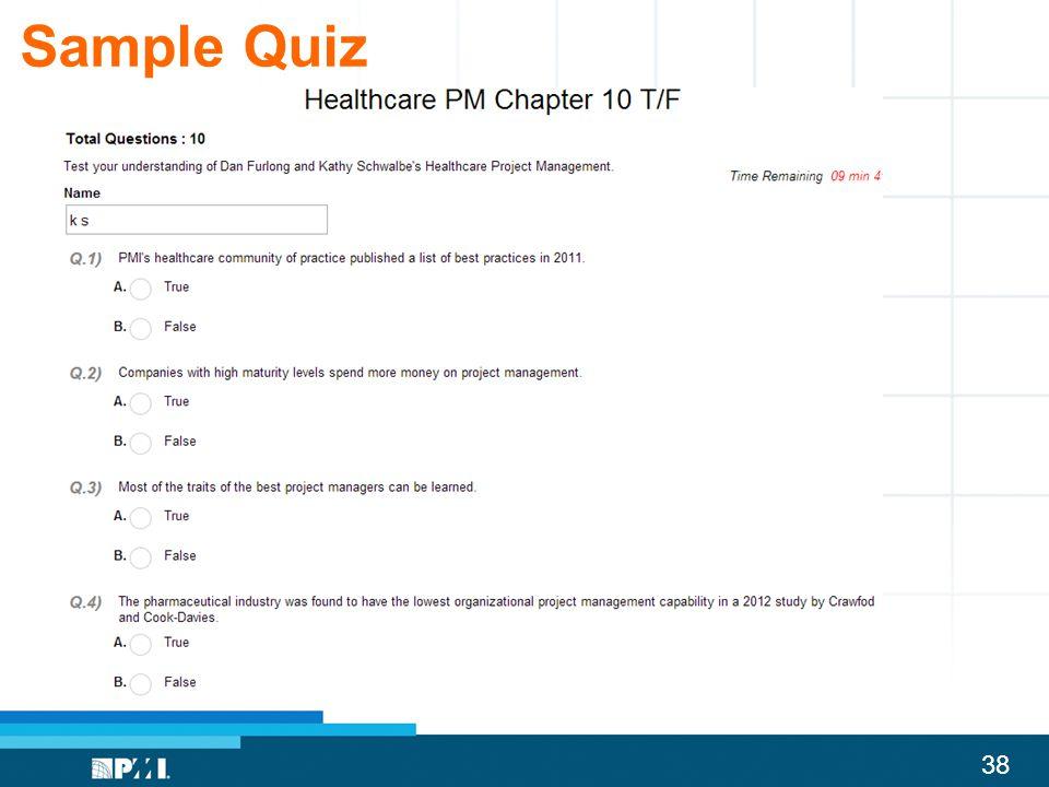 38 Sample Quiz
