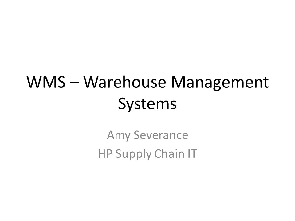 What is a WMS.