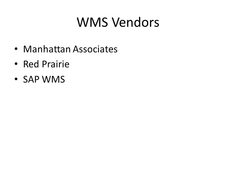 How do you select a WMS.