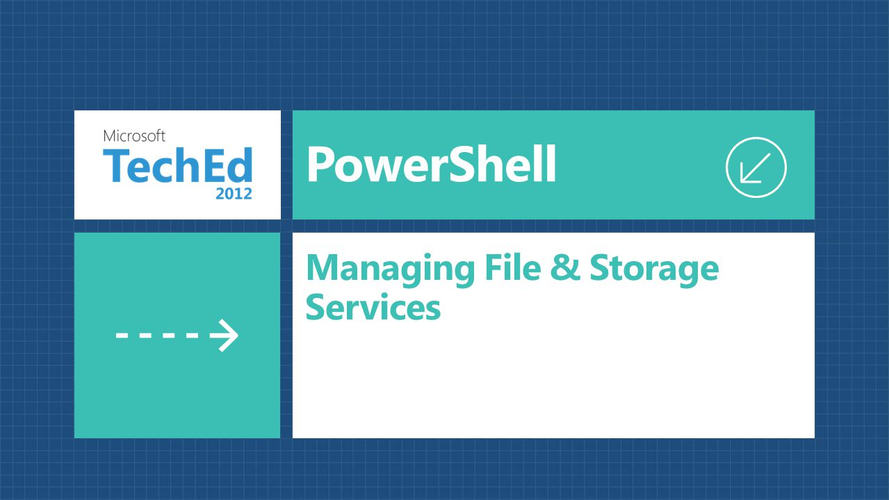PowerShell Managing File & Storage Services