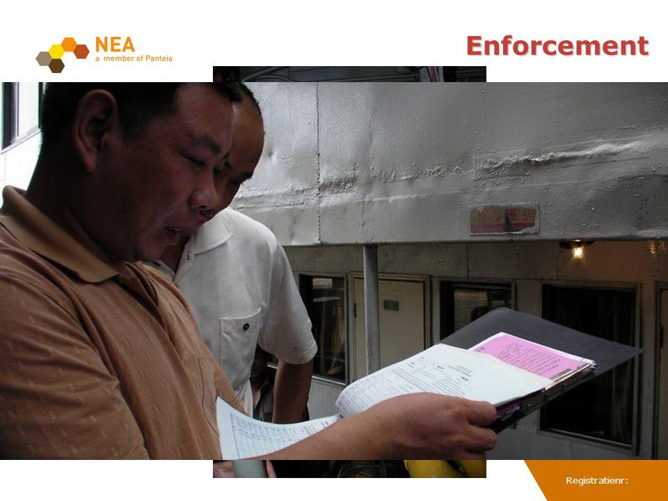 Registratienr: Enforcement