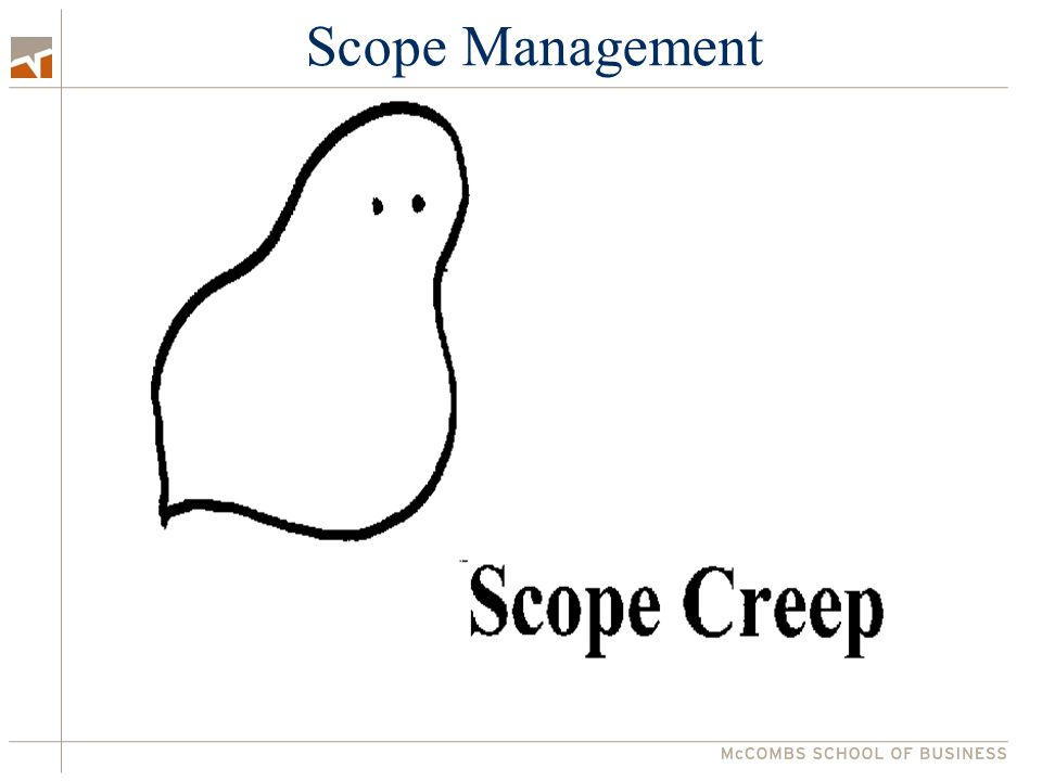 Class 6 – Scope Management Group Project 2 1.Project strategy – how to attack it 2.Inception skills requirements 3.Planning technique requirements Scope Management 1.Scope creep & time boxes: major advantages of phases 2.Strategies for planning phases to manage scope 3.Team management, clear responsibilities, simultaneous tasks Client Project Bidding – Friday noon Group Project 2 meeting