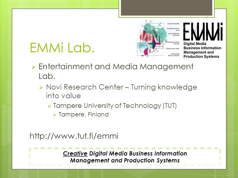 Agenda Business Information Management Media + Business Information Management Applications & Services Metadata Conclusion