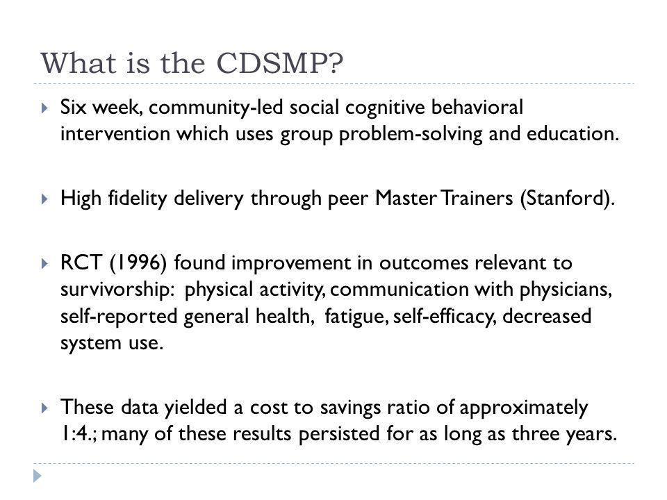 The Need: Self-Management & Survivorship Chronic Care Model applied to survivorship in the landmark IOM report Lost in Transition, 2005.