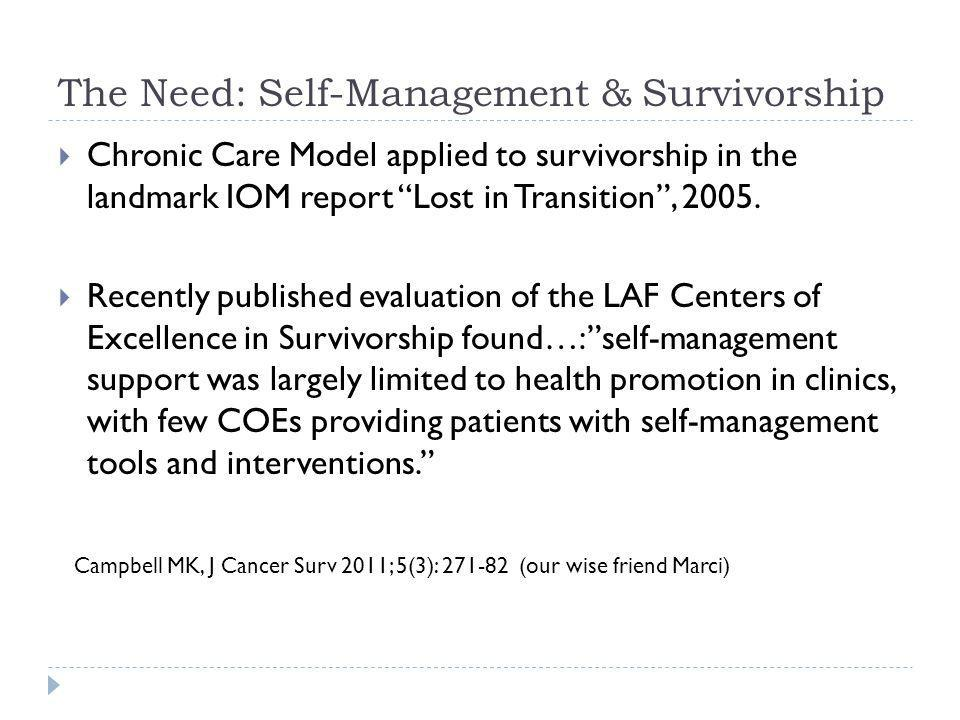 CDSMP, Survivorship, & Colorado CPCRN: In the right place, at the right time… A curriculum for cancer survivors was initially developed in the U.K.