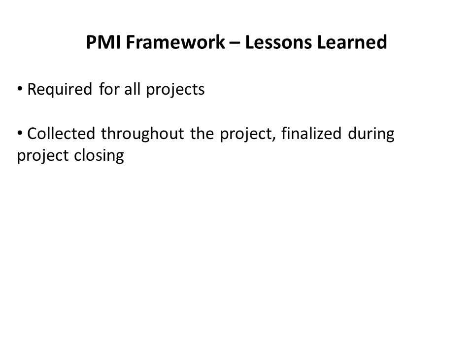 PMI Processes – Exam Questions Question 14, chapter 3 – During a team meeting, a team member asks about the measurements that will be used on the project to judge performance.