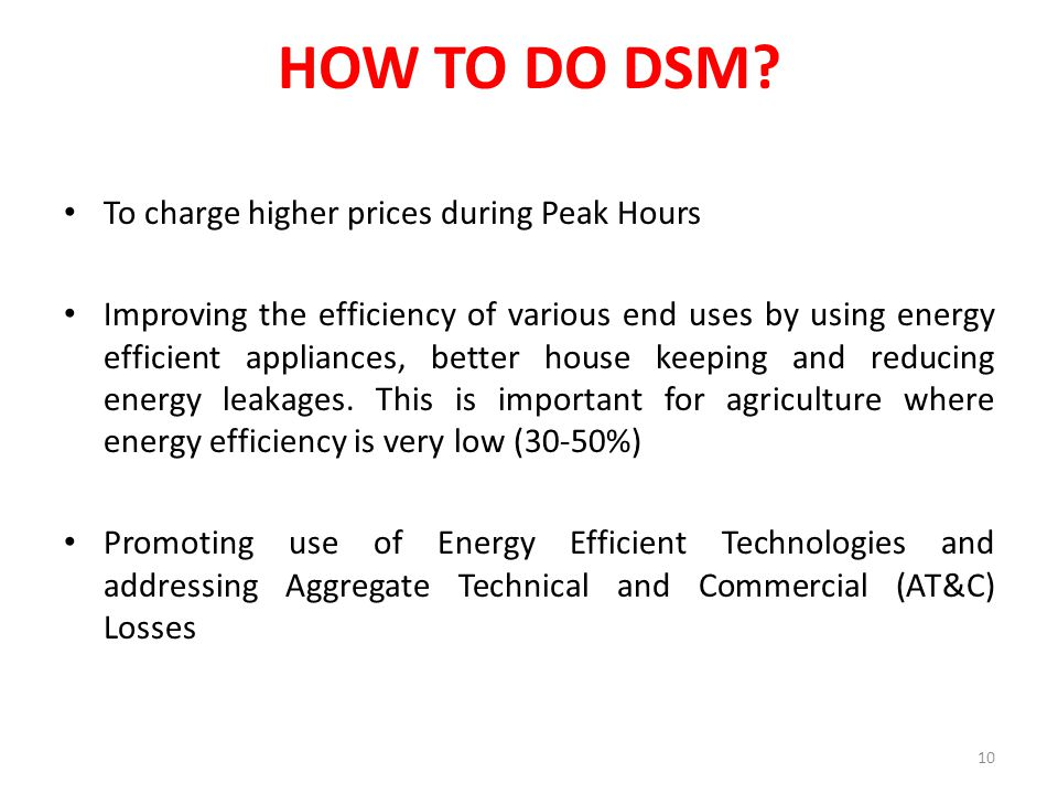 HOW TO DO DSM.