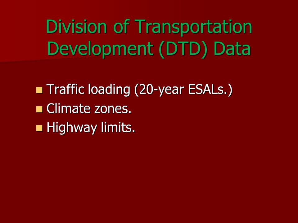 Roadway Condition Data Collected annually.Collected annually.