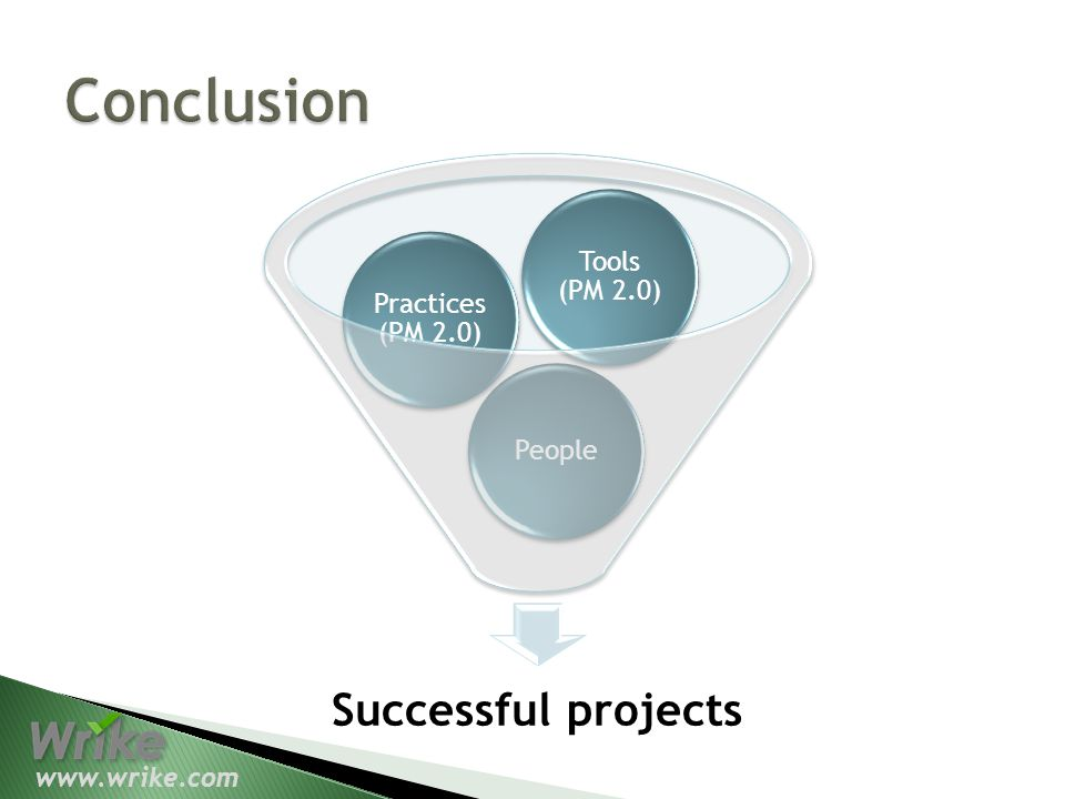 Successful projects People Practices (PM 2.0) Tools (PM 2.0)