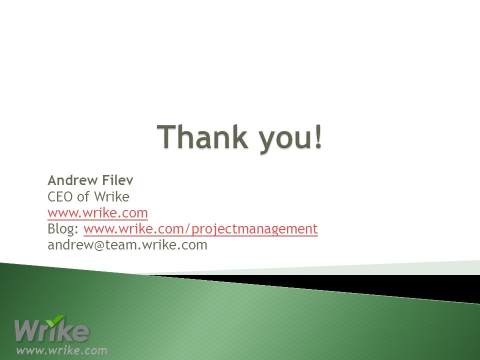 Andrew Filev CEO of Wrike   Blog: