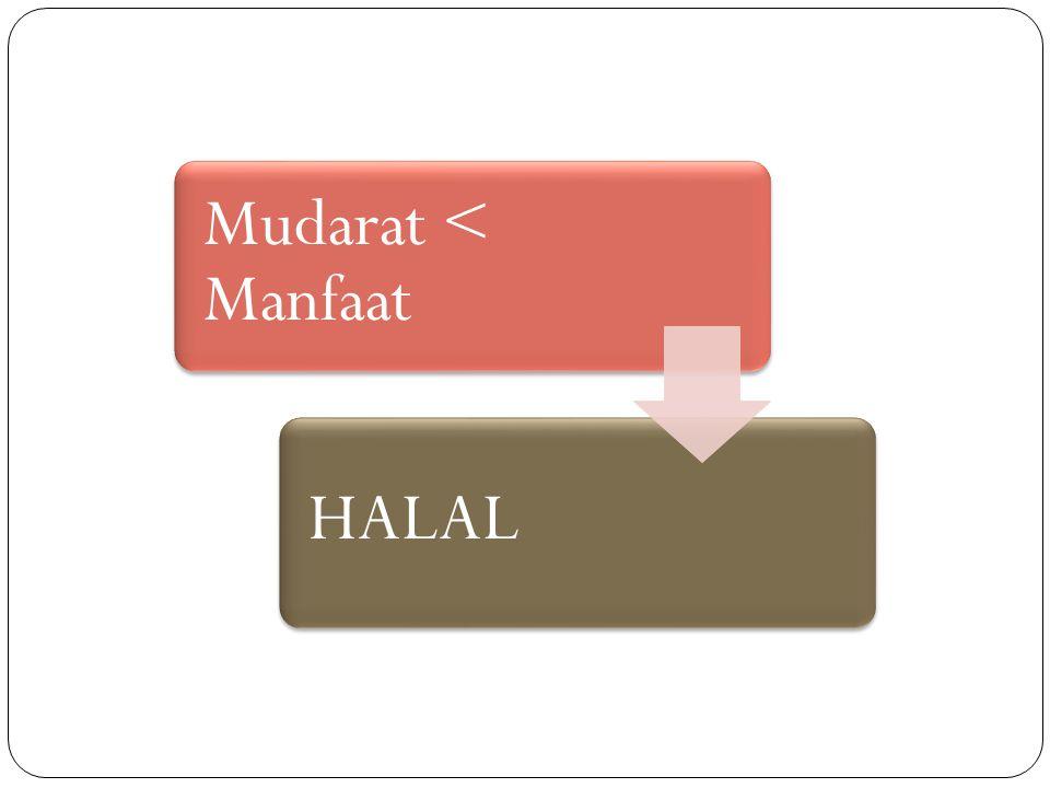 Mudarat < Manfaat HALAL