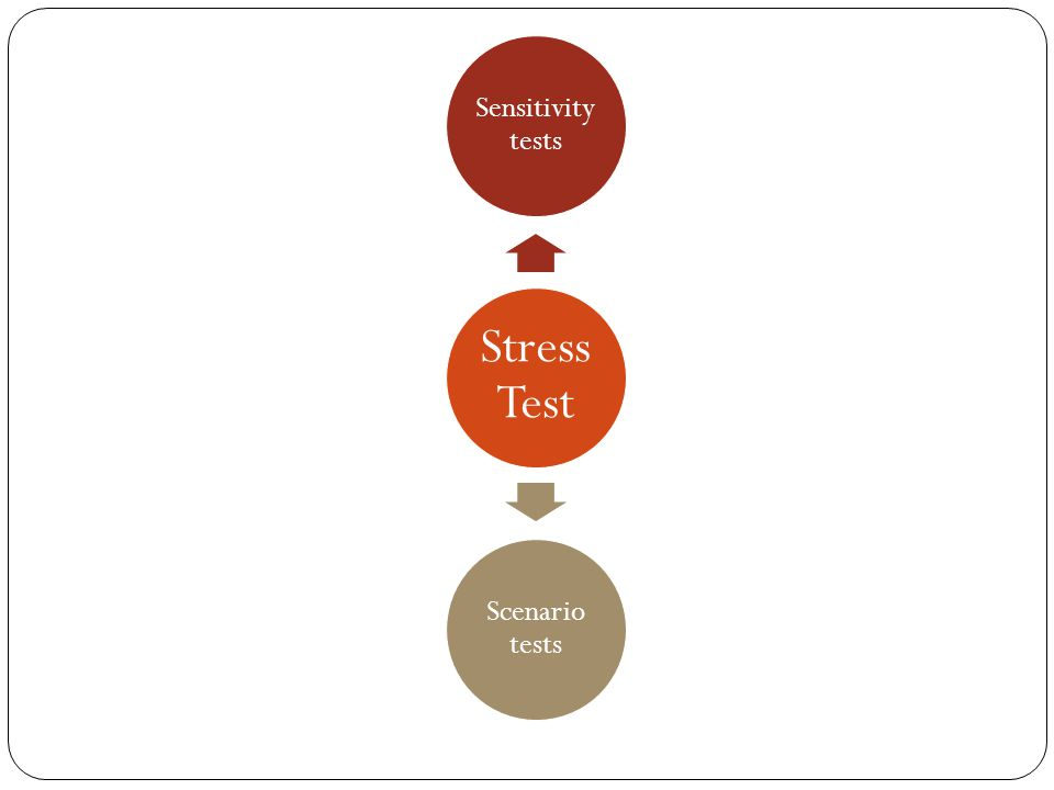 Stress Test Sensitivity tests Scenario tests