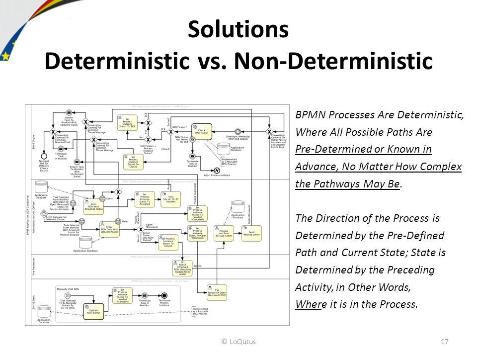 Solutions Deterministic vs.