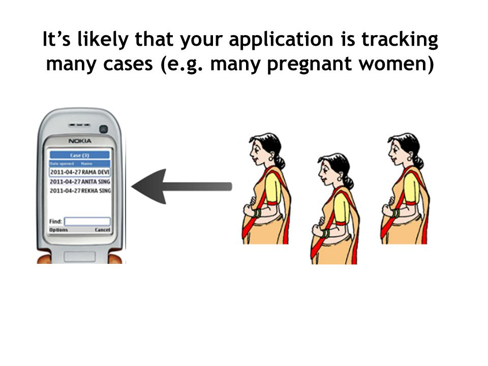 Its likely that your application is tracking many cases (e.g. many pregnant women)