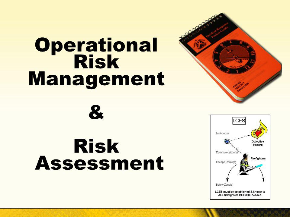Operational Risk Management & Risk Assessment