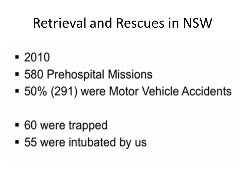 Retrieval and Rescues in NSW