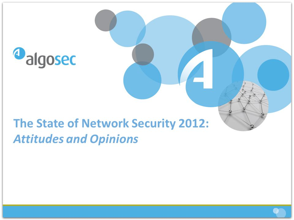 The State of Network Security 2012: Attitudes and Opinions