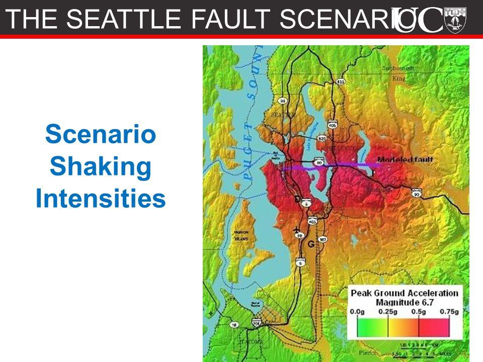 Scenario Shaking Intensities THE SEATTLE FAULT SCENARIO
