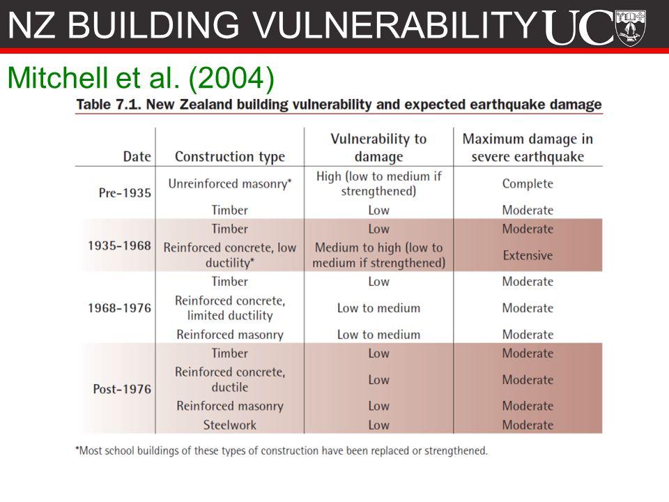 Mitchell et al. (2004) NZ BUILDING VULNERABILITY