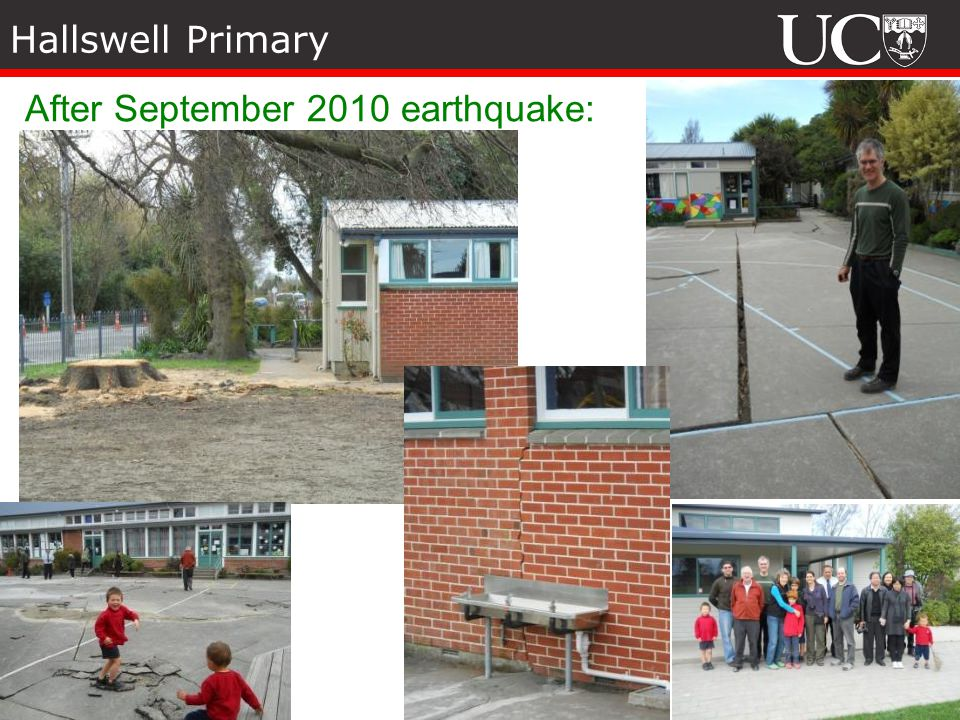 Hallswell Primary After September 2010 earthquake: