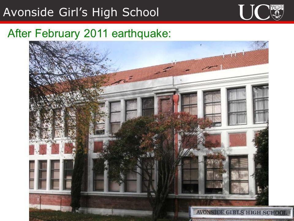 Avonside Girls High School After February 2011 earthquake: