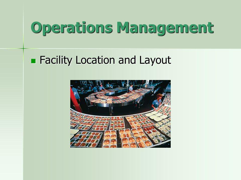 Operations Management Project Management Project Management