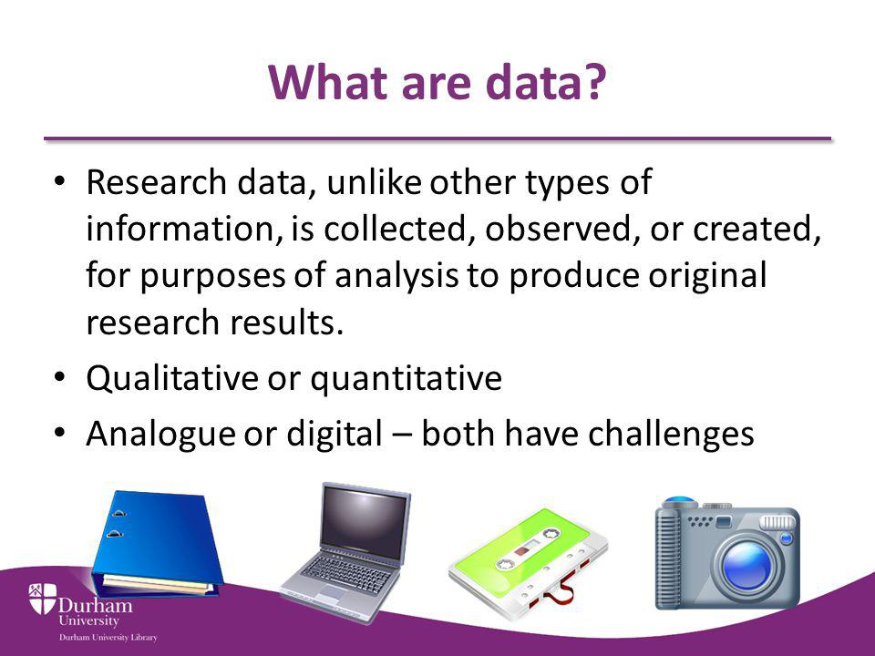 What are data.
