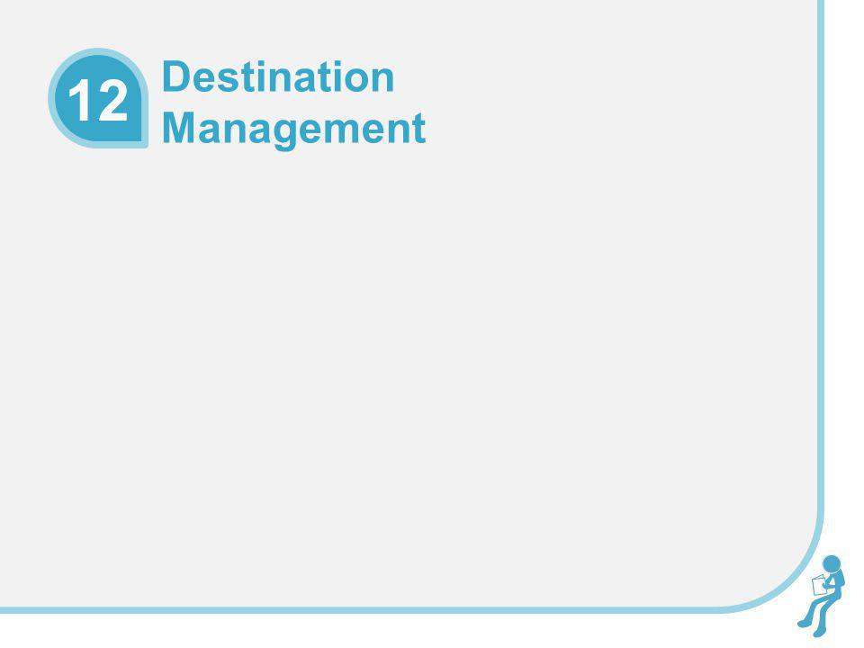 Learning Objectives To explain destination management within a theoretical and conceptual context To understand the structures that exist to facilitate effective destination management To evaluate the management of a destination