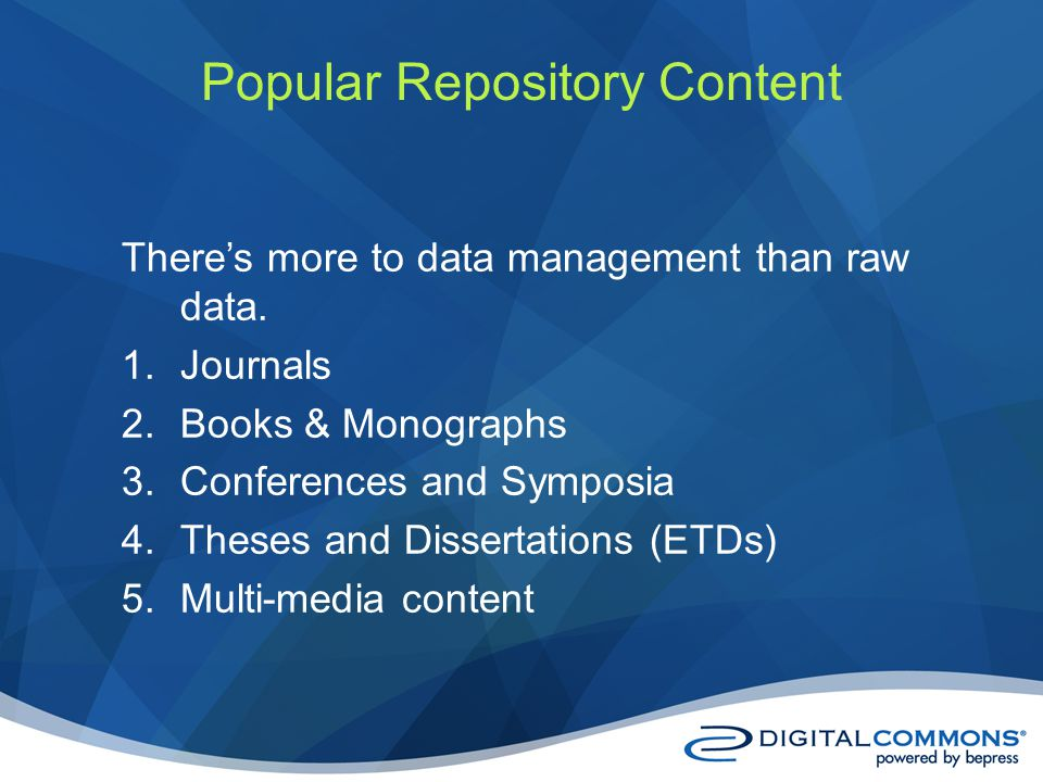 Theres more to data management than raw data.