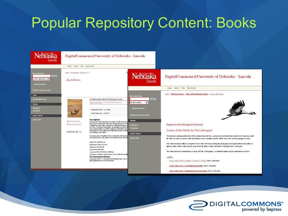 Popular Repository Content: Books
