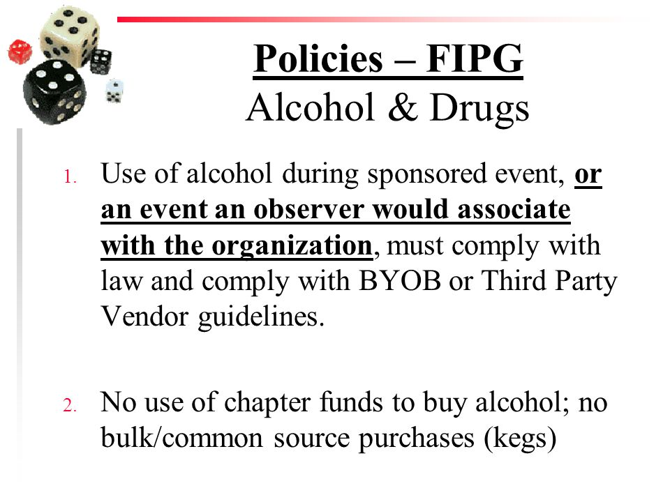 Policies – FIPG Alcohol & Drugs 1.