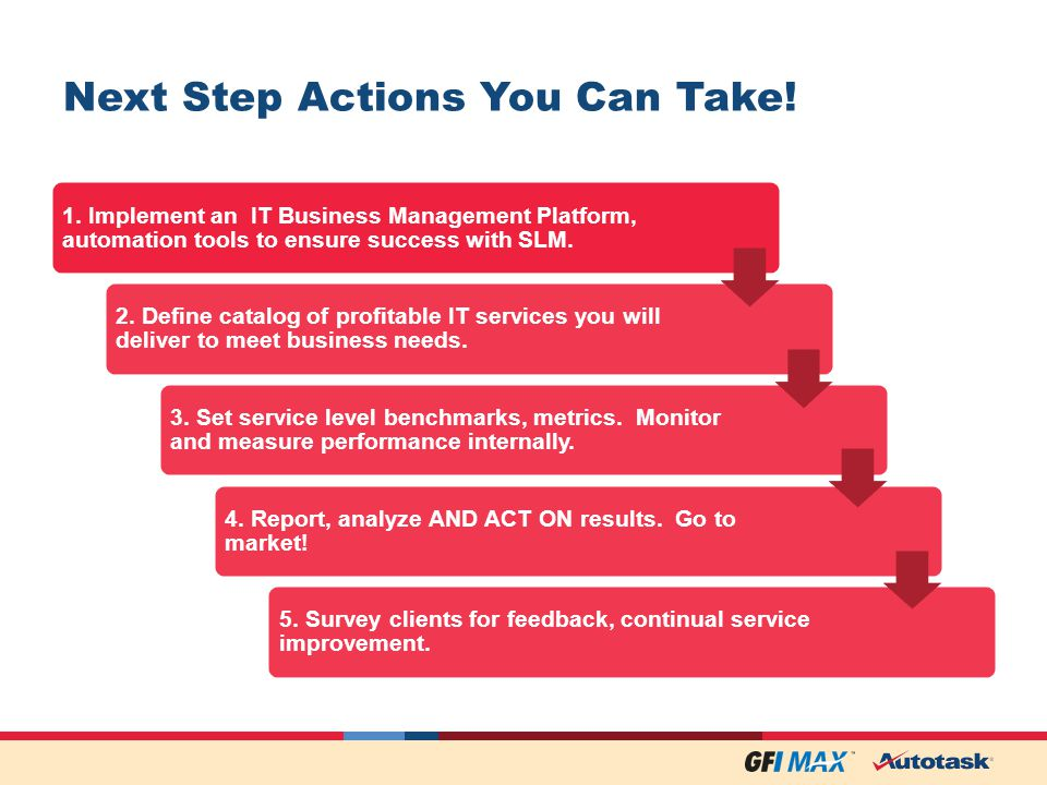 Next Step Actions You Can Take. 1.