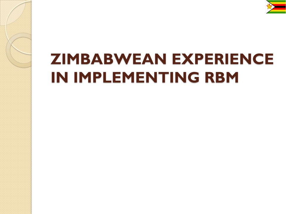 IMPLEMENTATION PROCESS continued Training of core trainers in RBM.