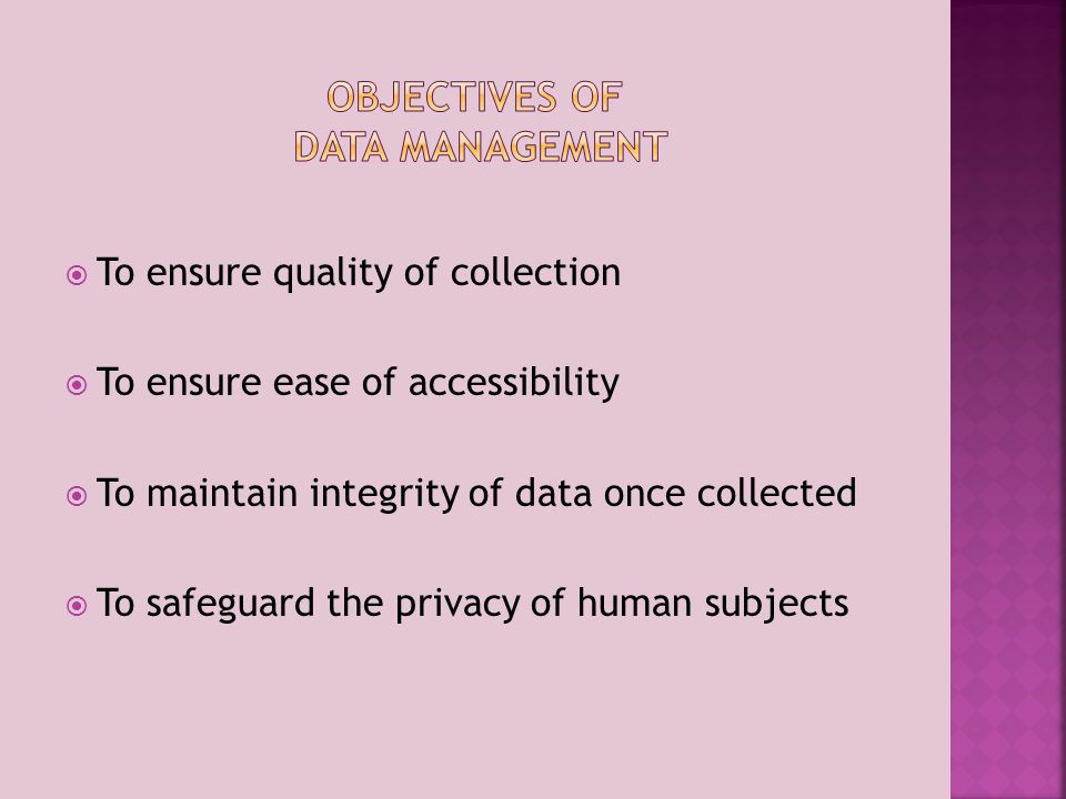 Poor quality control in data collection Insufficient or unclear file naming system Inconsistency in documenting sources Incomplete field notes or recorded data Loss of data through carelessness or failure to back up