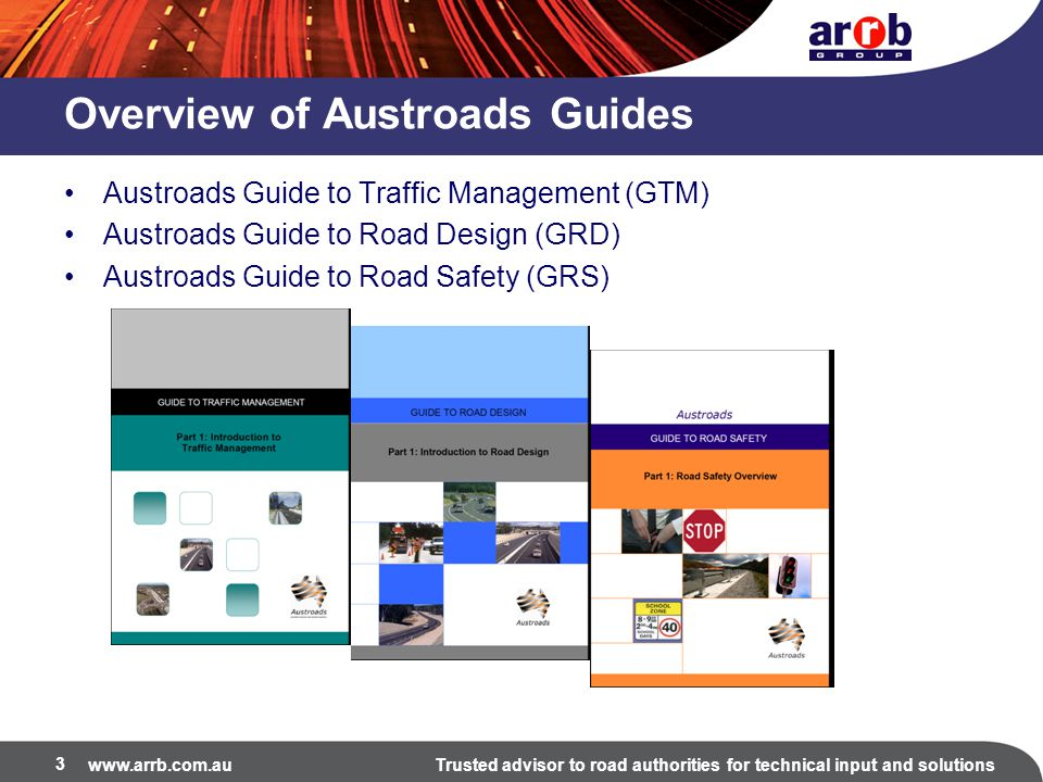 www.arrb.com.auTrusted advisor to road authorities for technical input and solutions Part 3 2 nd Edition 2013 4.Provides an additional Section 3.4 for pedestrian level of service based on the latest research from both the US and New Zealand.