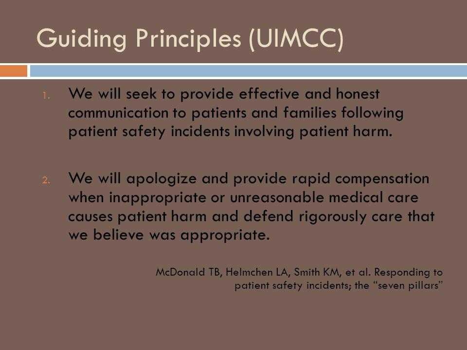Guiding Principles (UIMCC) 1.