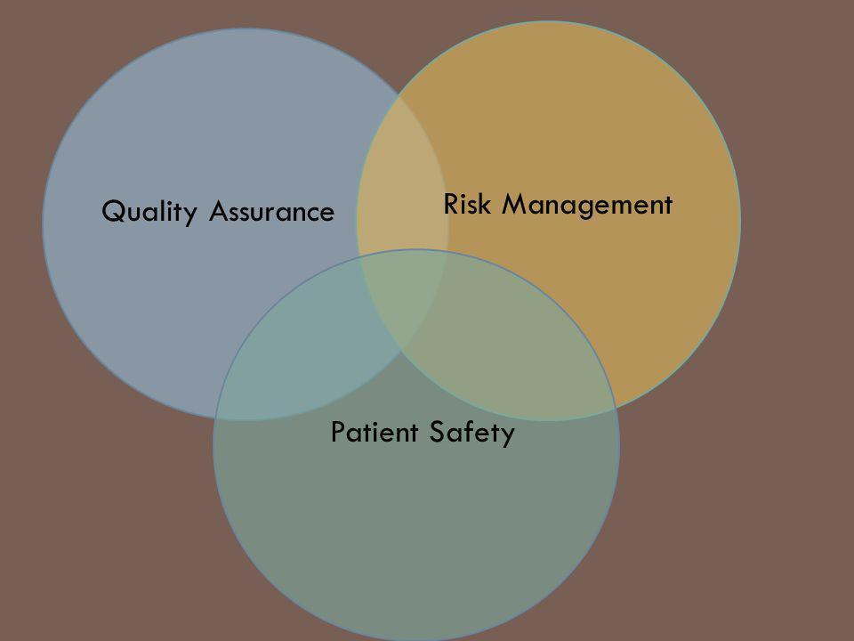 Quality AssuranceRisk ManagementPatient Safety