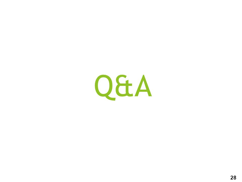 28 Q&A