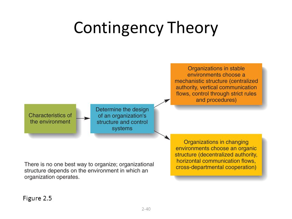 Contingency Theory 2-40 Figure 2.5