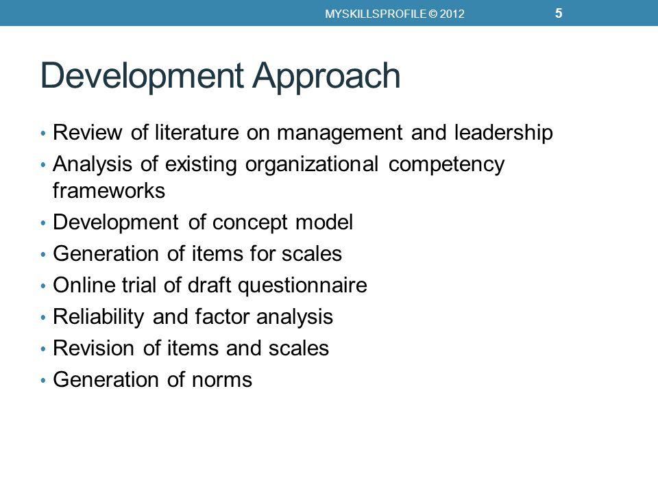 Competency Scorecards MYSKILLSPROFILE © 2012 16 Strategic and Creative Thinking