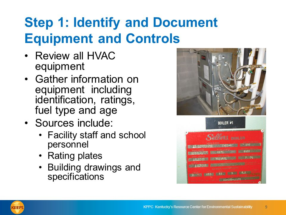 KPPC Kentuckys Resource Center for Environmental Sustainability 10 KEEPS On-site Energy Assessment Form for HVAC Systems - Equipment