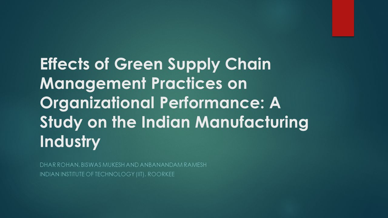 Introduction-Why Green SCM Today, the world is moving towards greater environmental concern and awareness.