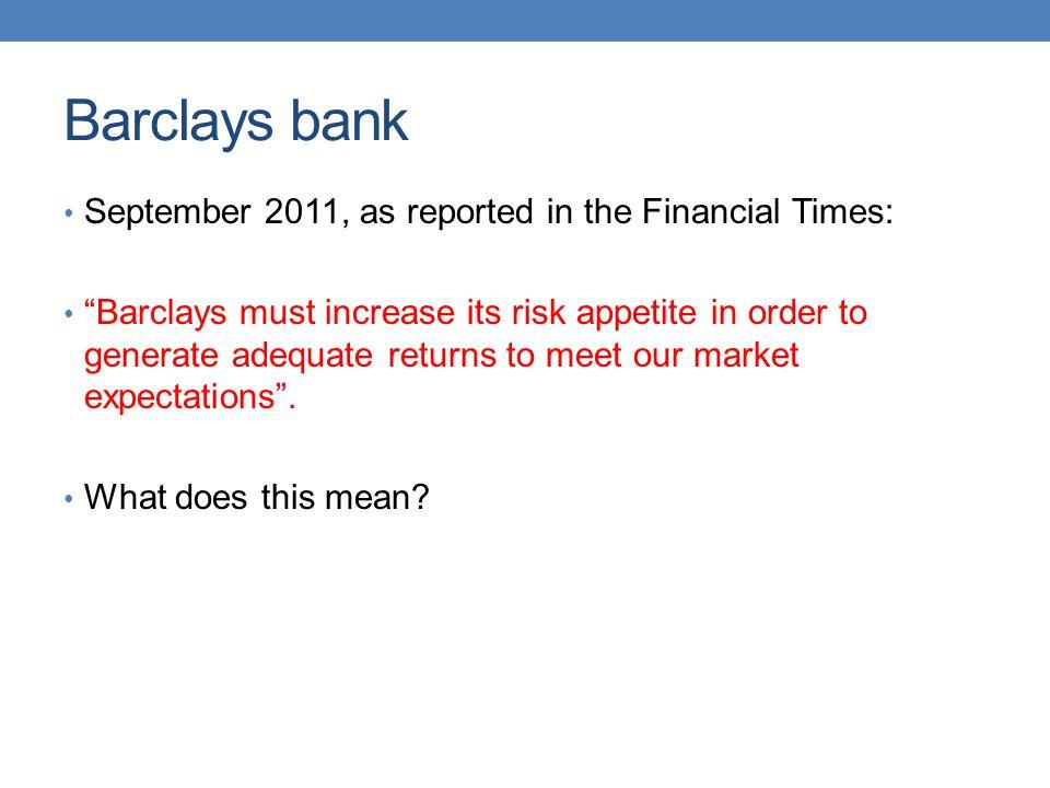 Returns and risk Return Risk Current