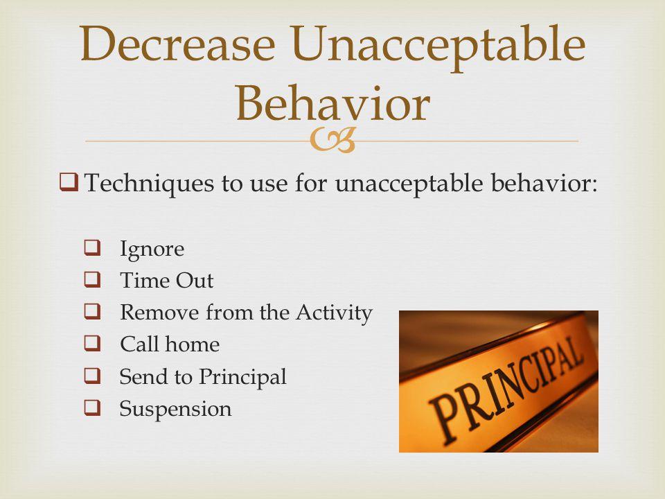Corrective Feedback/Reprimands Remove Positive Consequence Behavior Contracts Behavior Corrections