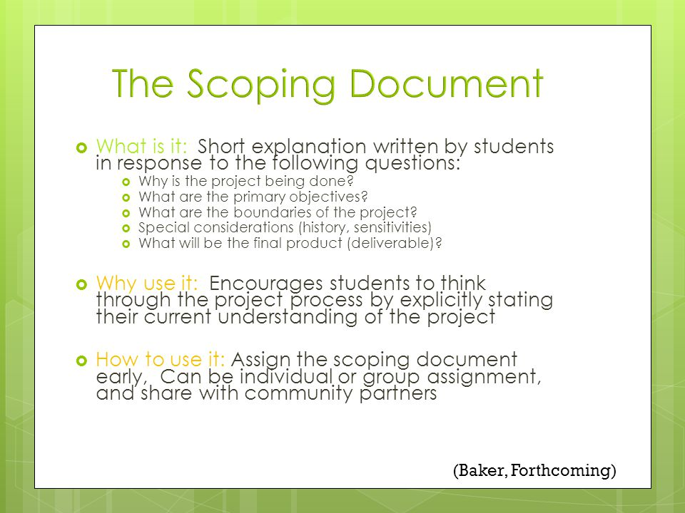 What is it: Short explanation written by students in response to the following questions: Why is the project being done.
