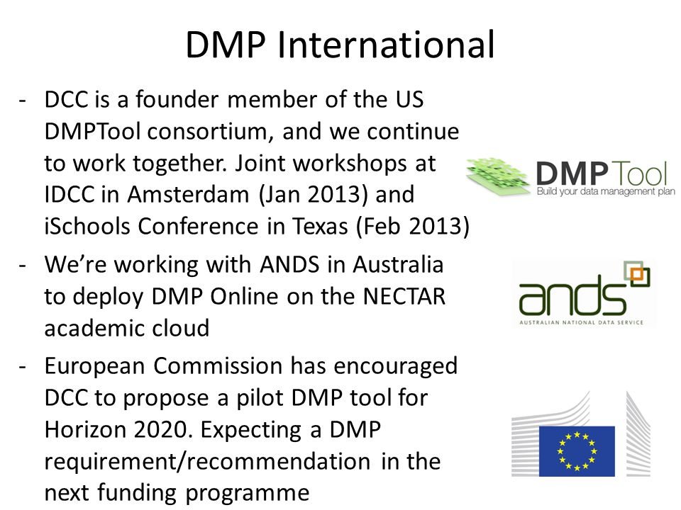 -DCC is a founder member of the US DMPTool consortium, and we continue to work together.